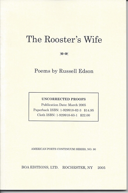 THE ROOSTER'S WIFE. Russell Edson.