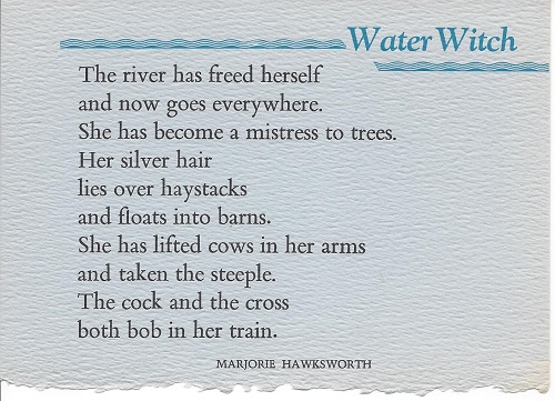 WATER WITCH. (Broadside.). Marjorie Hawksworth.