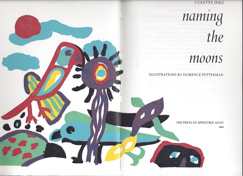 NAMING THE MOONS. Colette Inez, Florence Putterman.