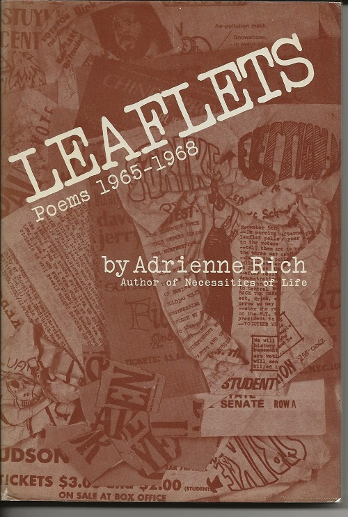 LEAFLETS: POEMS 1965-1968. Adrienne Rich.