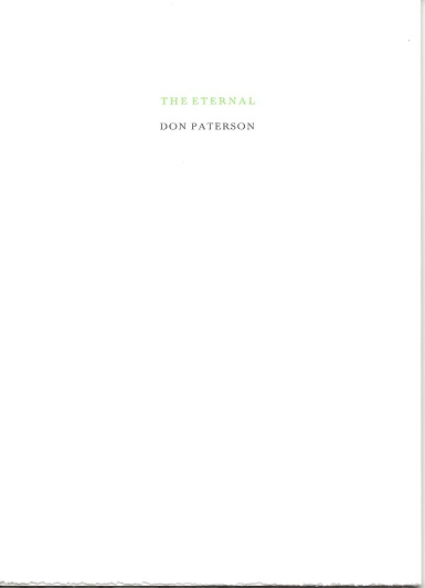 THE ETERNAL. Don Paterson.