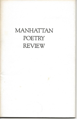 """Available Light"" in MANHATTAN POETRY REVIEW: 10. Marge Piercy."
