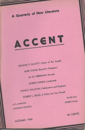 ACCENT: A QUARTERLY OF NEW LITERATURE.