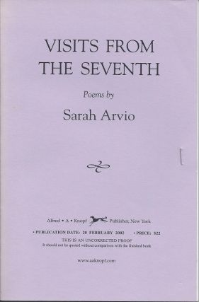 VISITS FROM THE SEVENTH. Sarah Arvio