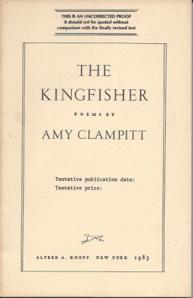 THE KINGFISHER. Amy Clampitt