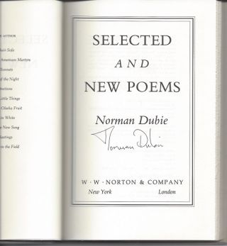 SELECTED AND NEW POEMS.