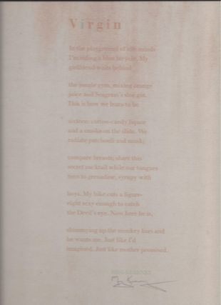 VIRGIN. (Broadside.). Meg Kearney.