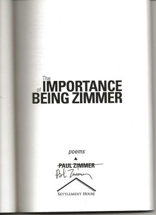 THE IMPORTANCE OF BEING ZIMMER.