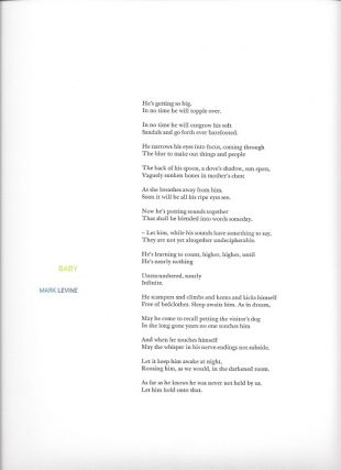 BABY. (Broadside.). Mark Levine.