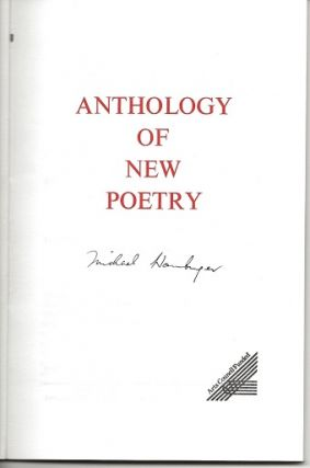 AGENDA: ANTHOLOGY OF NEW POETRY.