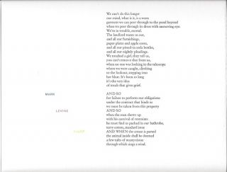 HARP. (Broadside.). Mark Levine.