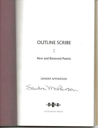 OUTLINE SCRIBE: NEW AND RENEWED POEMS.