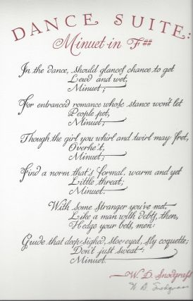 DANCE SUITE: MINUET IN F##. (Broadside.)