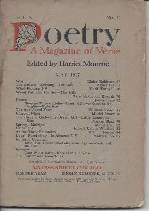 POETRY: A MAGAZINE OF VERSE. James Joyce