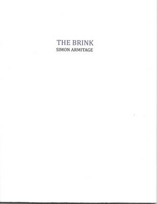 THE BRINK. Simon Armitage
